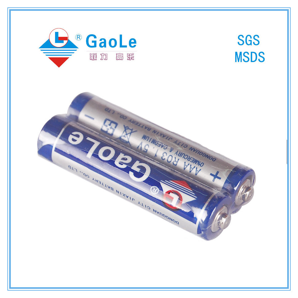 1.5V R03p AAA Size Carbon Zinc Battery (PVC Jacket)