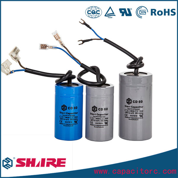 CD60 Type Motor Starting Capacitor for Refrigerators