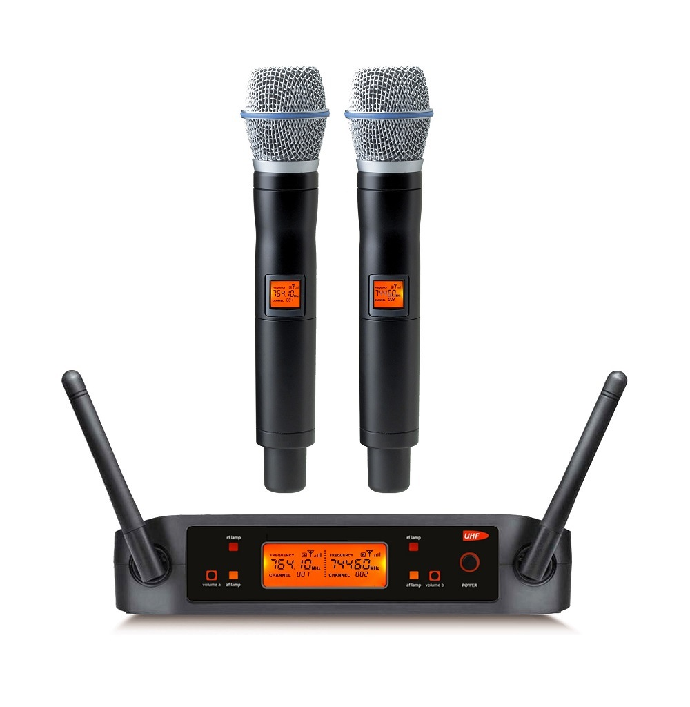 Gymsense Vocal Artist UHF Wireless Clip Karaoke Microphone System