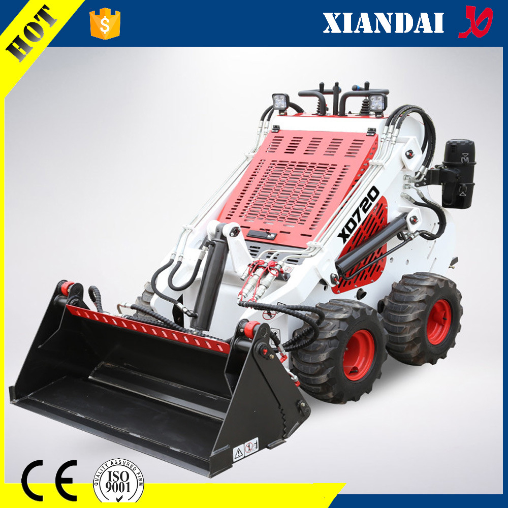 Multifunctional Mini Skid Steer Loader Xd720 with Trencher and Auger