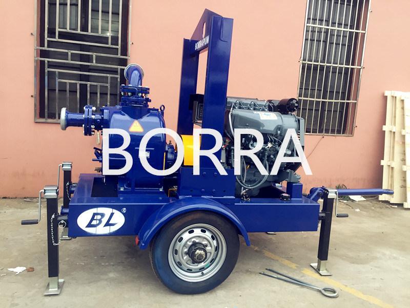 Trailer Mounted Air Cooling Self-Priming Diesel Engine Dewatering Water Pump