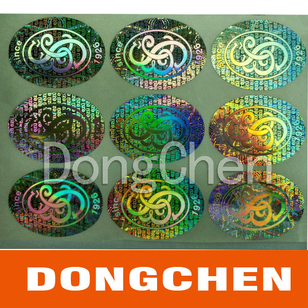 Holographic Self Adhesive Paper Films Label