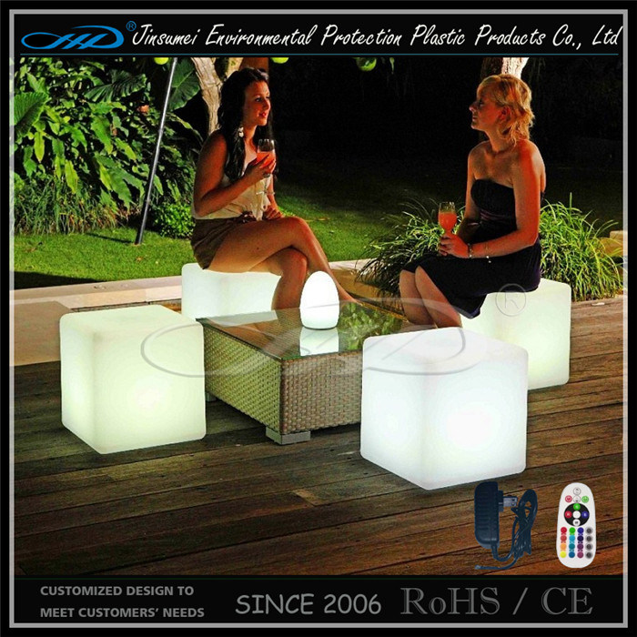 Garden Furniture Color Changing LED Cube Seating
