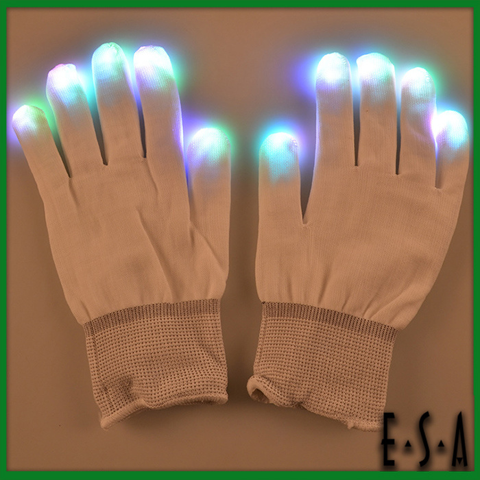 Hottest New 2015 Lighting Party Changing LED Gloves Glove with LED Flashing Color, Best Selling LED Flashing Party Gloves G15A104