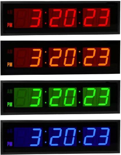 Acrylic Mateiral Large LED Digital Count Down Wall Clocks (ZT-028AR)