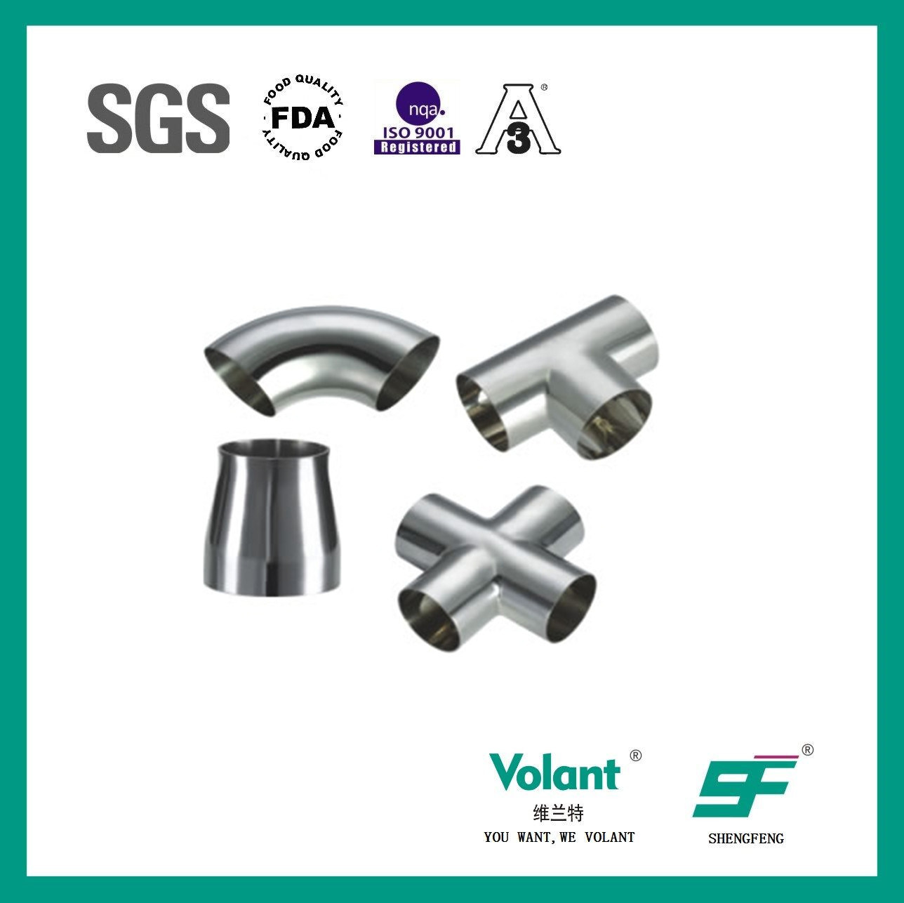 Stainless Steel Sanitary Bend Elbow (multiple)