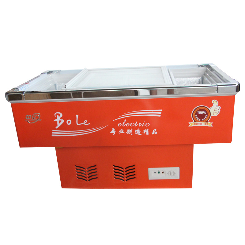 108L Sliding Glass Door Seafood Freezer for Supermarket