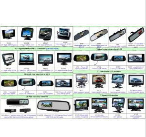"""4.3"""" TFT LCD Wireless Car Rear View System with Night Vision Camera"""