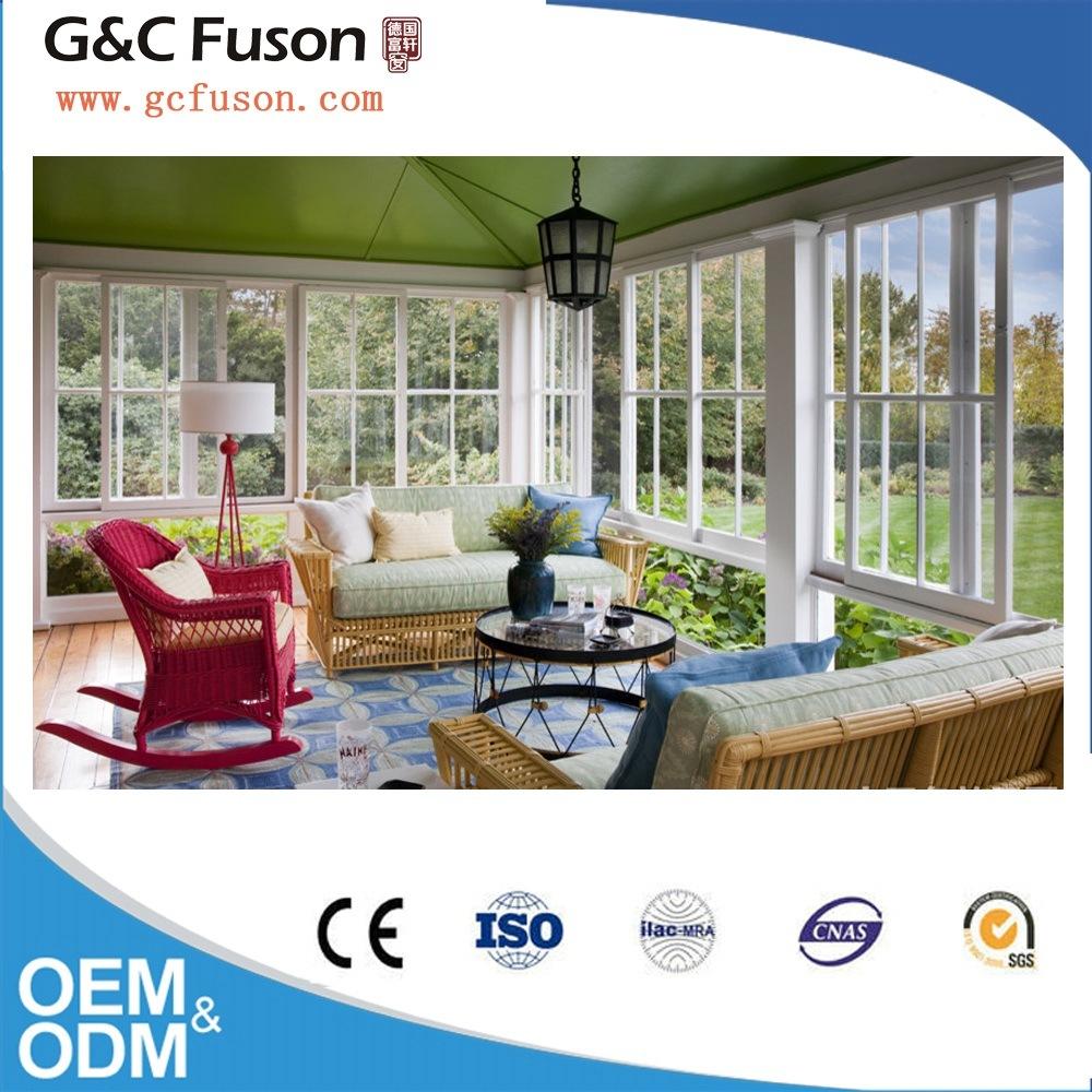 New Model Aluminium Profile Double Glazing Sliding Window Grill Design