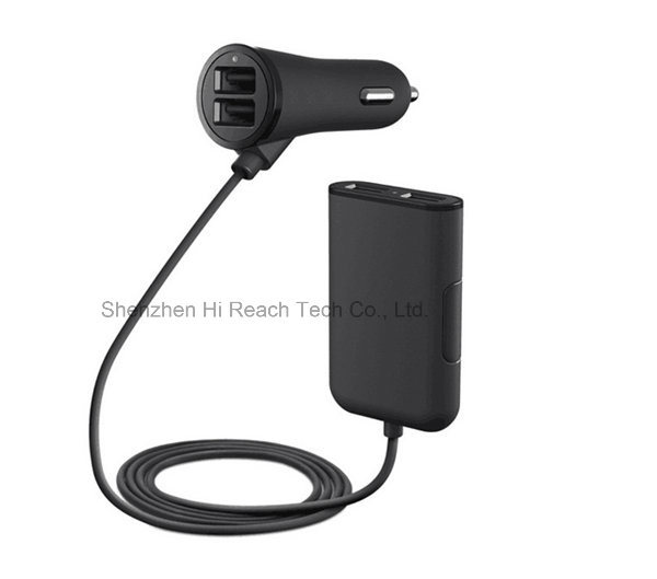 4 Ports USB Car Charger Cell Phone Mobile Phone Samrt Phone iPhone & Samsung Car Charger for iPhone and Samsung 5V/7.2A