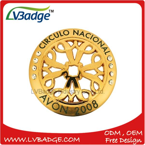 Custom Gold Metal Lapel Pin with Hollow