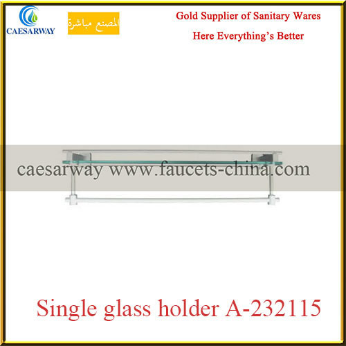 Sanitary Ware Bathroom Brass Fittings Brass Single Glass Holder