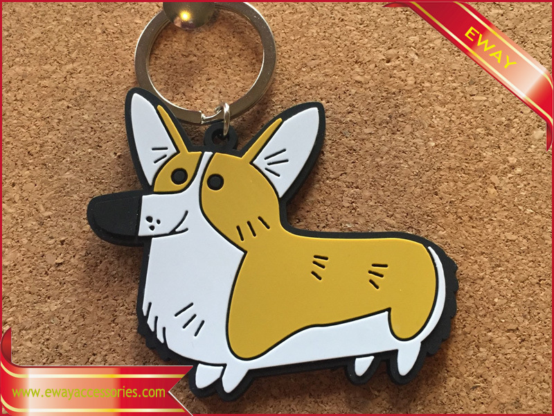 Promotional Fabric Keychain Metal Keychain Rubber Leather Keychain