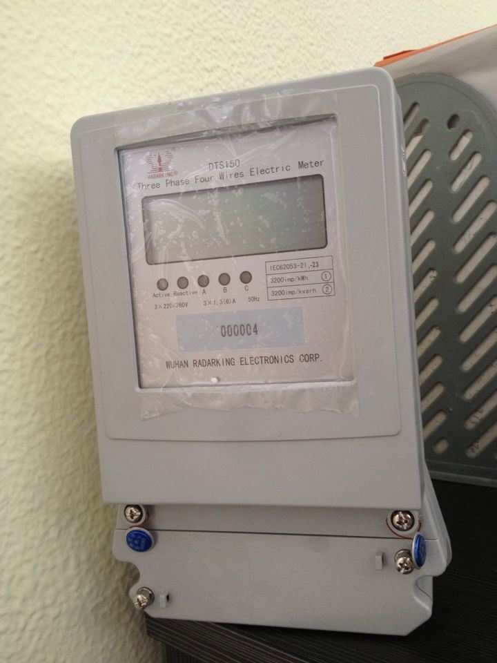 Customized Three Phase Four Wires Electrionic Kwh Meter
