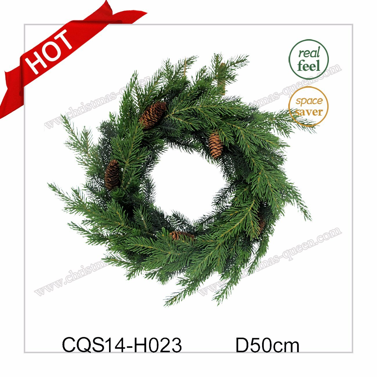 Dia. 50cm New Natural Plastic Christmas Ornaments Party and Holiday Decoration