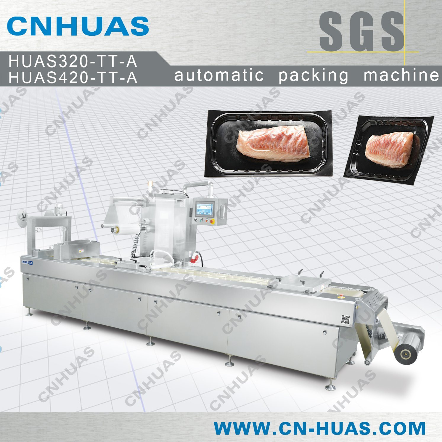 Automatic Thermoforming Vacuum Skin Packaging Machine for Fish