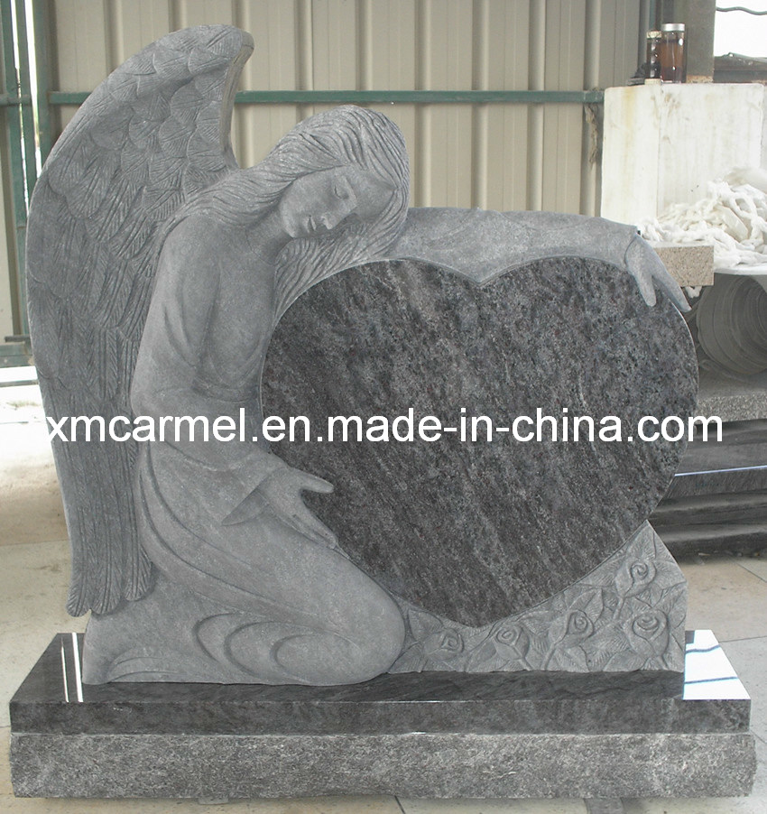 Granite Headstone with Angel Engraving Tombstone
