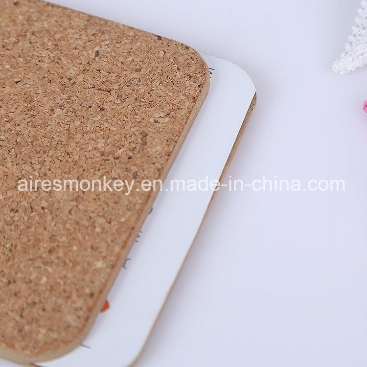 Square MDF Customized Cork Cup Coaster