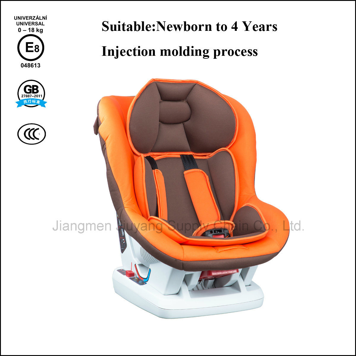 HDPE Frame Baby Safety Car Seat with Knitted Fabric 100% Polyester & Sponge