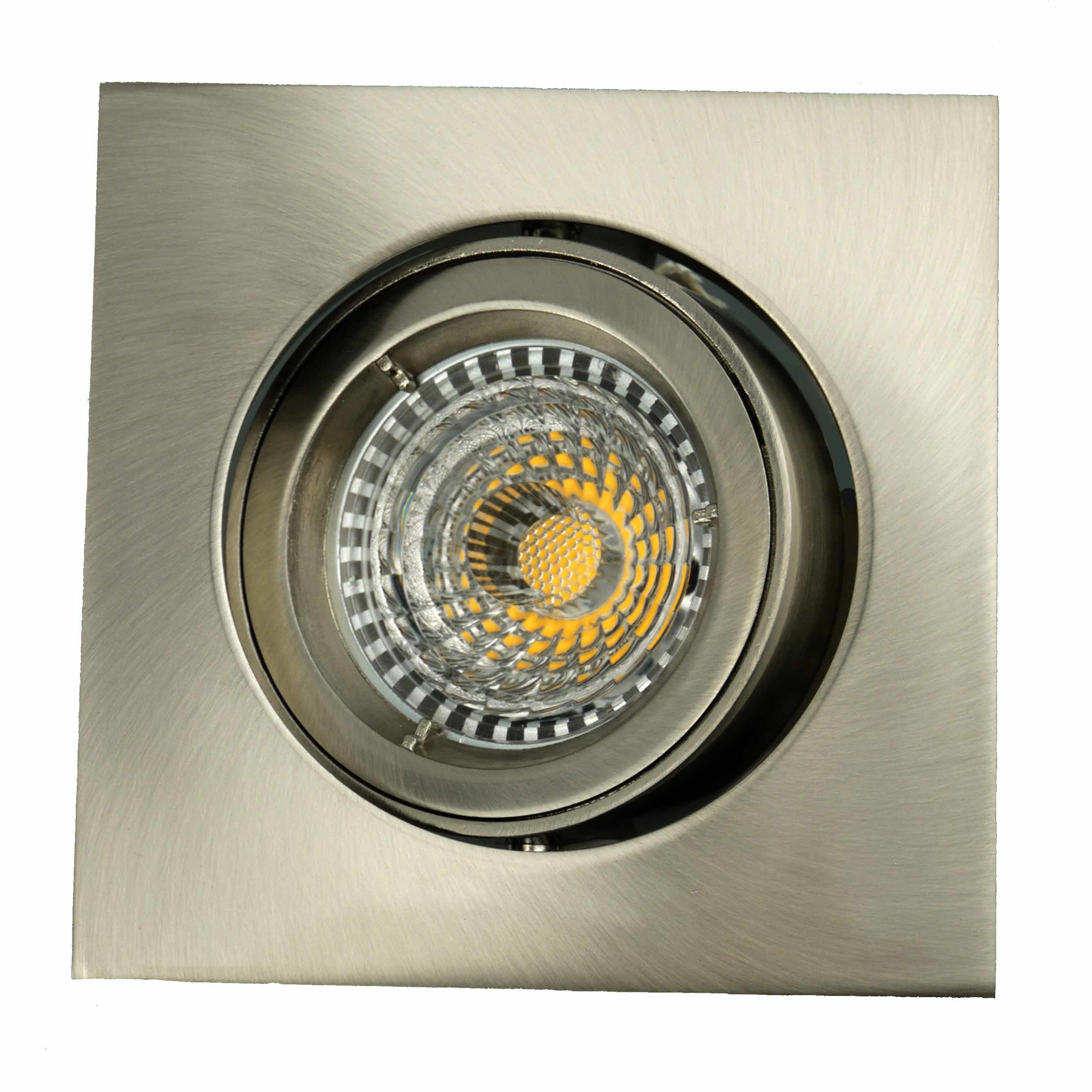 Die Casting Aluminum GU10 MR16 Square Tilt Recessed LED Spotlight (LT1301)