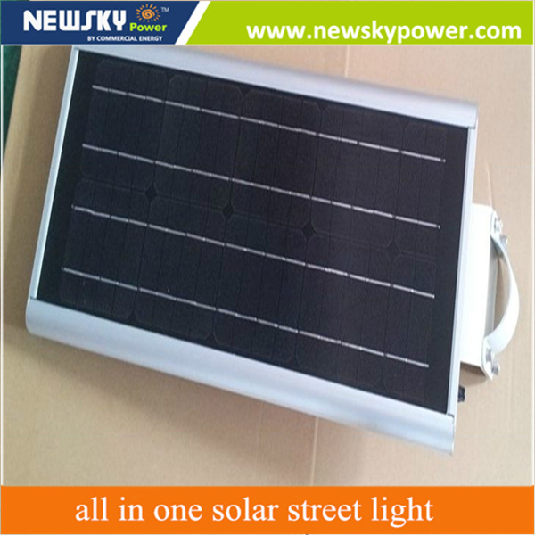 15W 30W Outdoor Integrated Solar Street Light with Pole LED Street Light