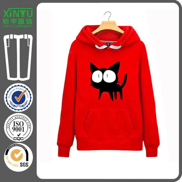 2016 Red Fleece Cheap Pullover Men Stylish Hoodie