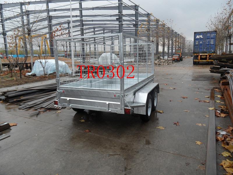 Galvanized Tendem Axle Box Trailer (TR0302)