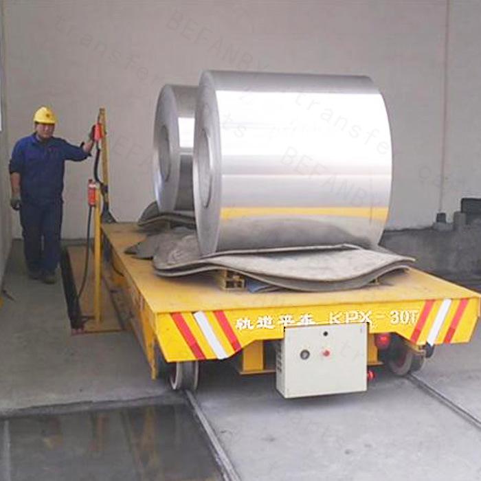 Heavy Load Motorized Tranefer Trailer Used in Steel Mill on Rails