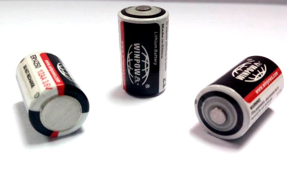 3.6V 2.7ah Er14505 Lithium/Thionyl Chloride Battery