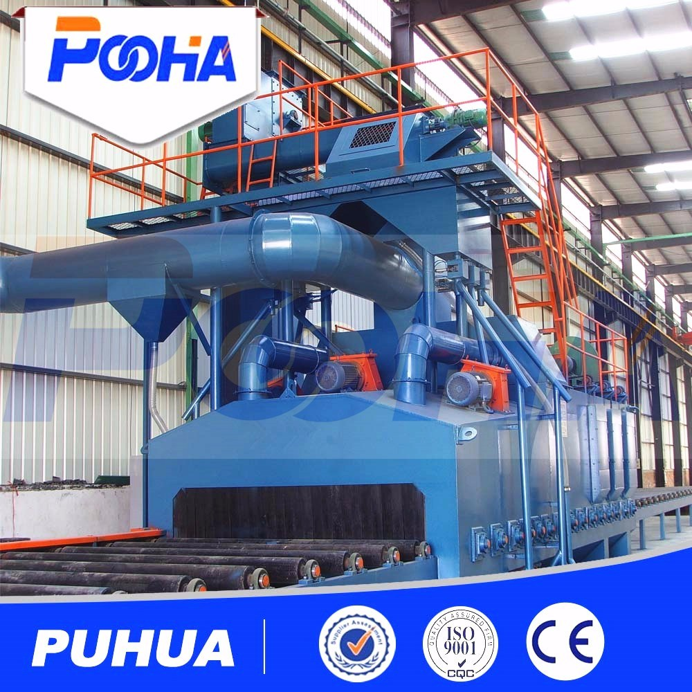Steel Shot Abrasive Shot Blasting Equipment/Steel Profiles Shot Blasting Machine