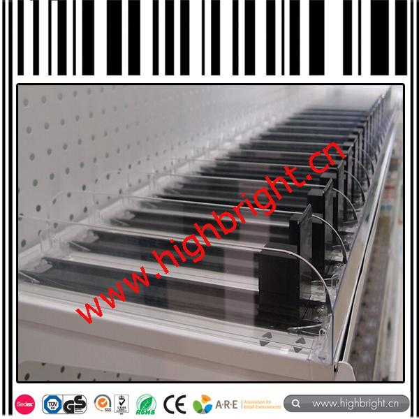 Supermarket Merchandiser Acrylic Shelf Cigarette Pusher