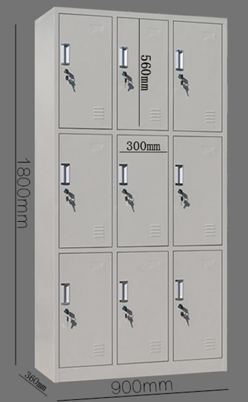 9-Door Multi Grid Steel File Cabinet Office Furniture/Bookcase
