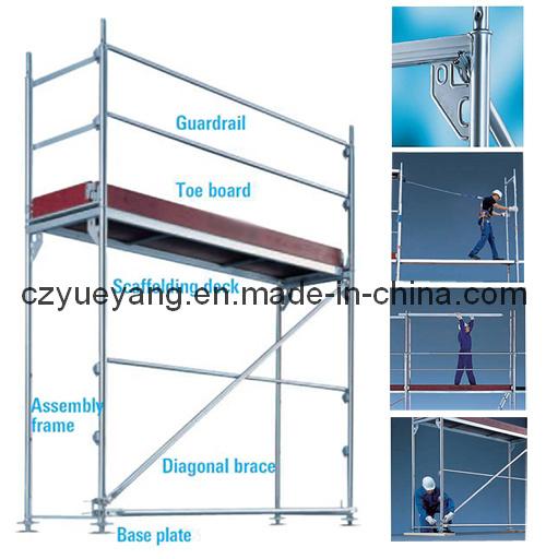 Scaffolding Set Up : Layher aluminium facade scaffolding system para easy setup