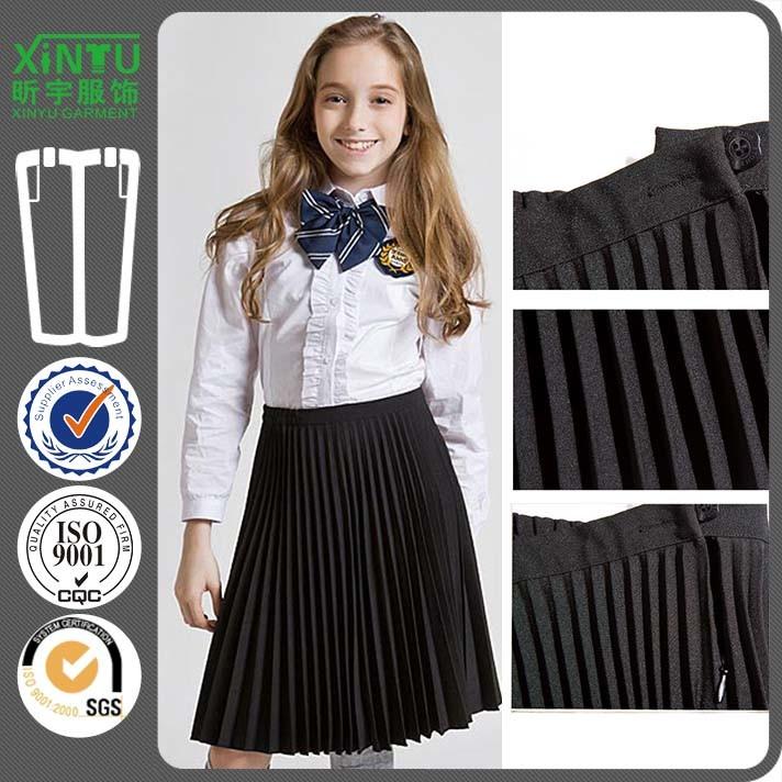 2016 Sexy Design Black Pleated Chiffon Mini Skirt