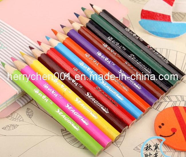"12 Color 3.5"" Half Size Colour Pencil, Sky-024"