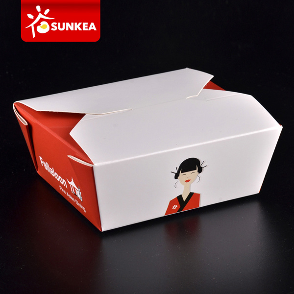 Custom Brand Printed Disposable Paper Bento Box