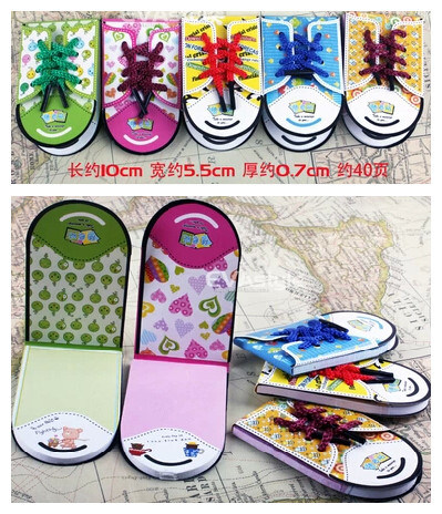 Hot Selling Mini Shoes Shaped Sticky Note