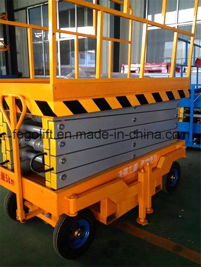 18m Wholesale Hydraulic Trailing Mobile Scissor Lift / Manual Scissor Work Platform
