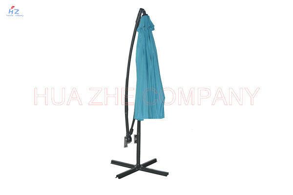 Hz-Um61 300-24-48mm Fiber Glass Hanging Umbrella 10ft Fiber Glass Parasol with Crank-Garden Parasol Banana Umbrella Outdoor Umbrella Garden Umbrella