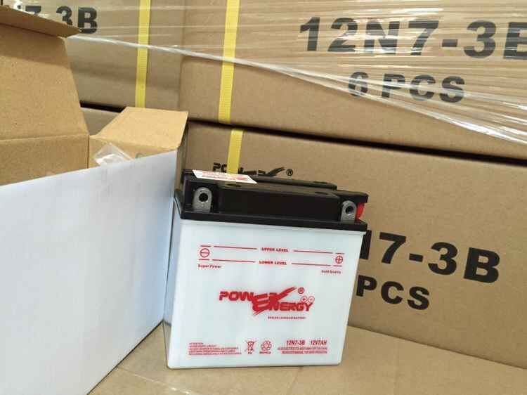 12n7-3b 12V7ah Conventional Flooded Lead Acid Dry Charged Motorcycle Battery