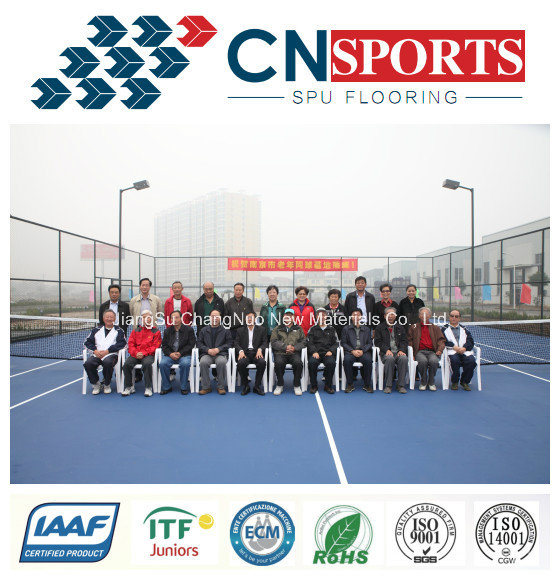 Factory Hot-Sale Rubber Tennis/Basketball/Badminton Spu Sports Flooring