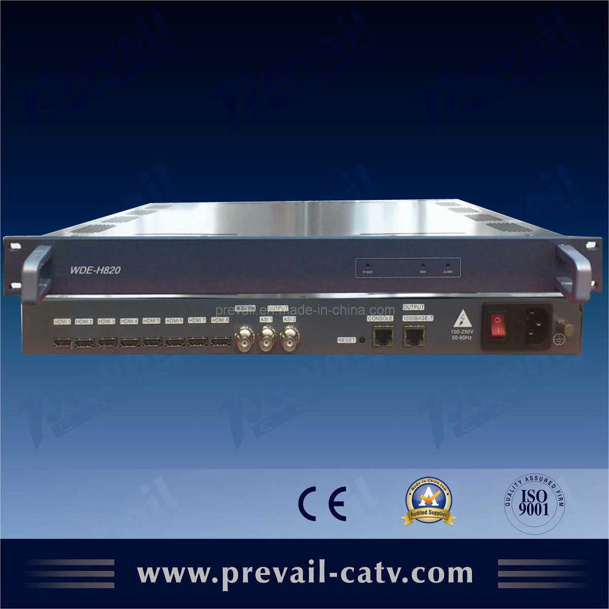 H. 264 8 In1 HD Encoder with IP Output IPTV Stream (WDE-H820)