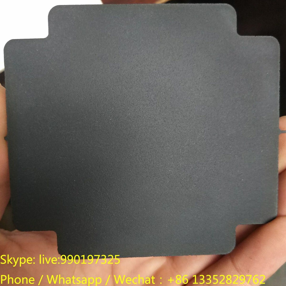10mm Thickness Black Matt Acrylic with Cutting Shape