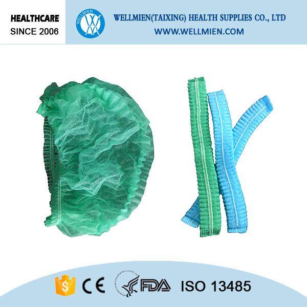 Nonwoven PP Bouffant Cap Medical Hospital Clip Cap
