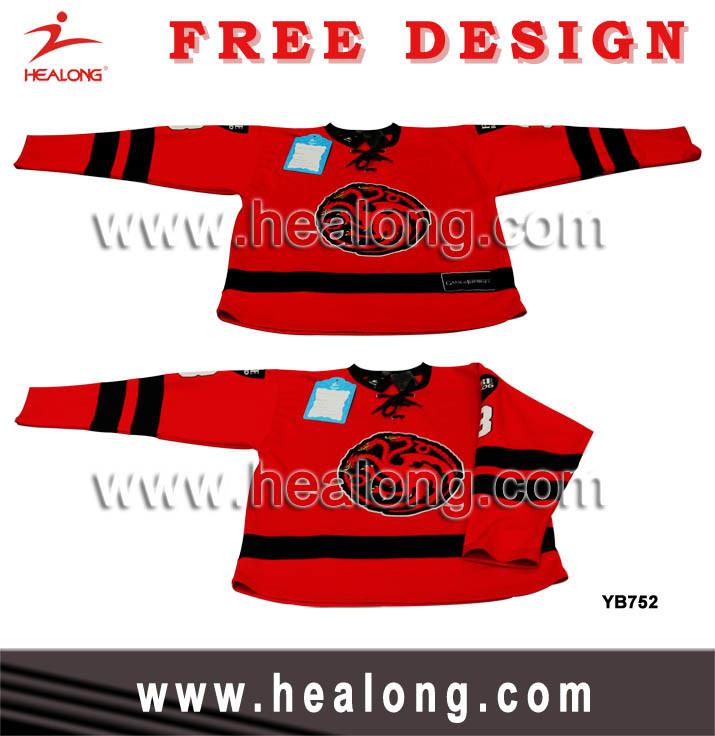 Sublimation Woven Logo Sublimation Ice Hockey Wear
