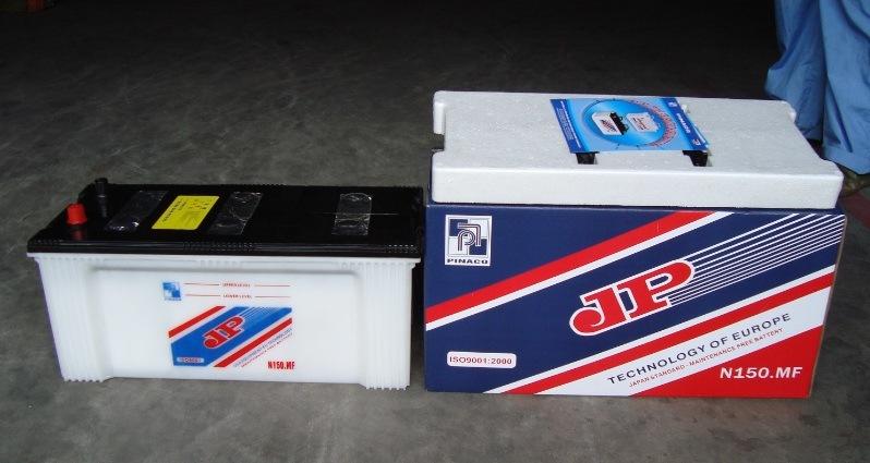 N150 12V150ah Dry Charged Lead Acid Car Storage Battery