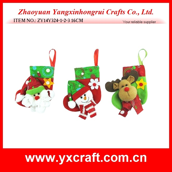 Christmas Decoration (ZY14Y324-1-2-3) Christmas Decoration Indoor Gift Sock