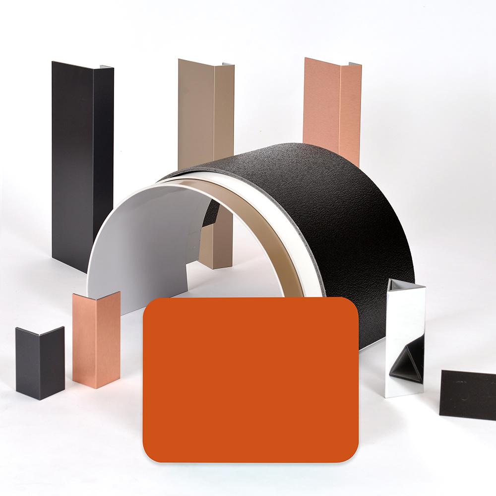 Aluis Interior 6mm Aluminium Composite Panel-0.06mm Aluminium Skin Thickness of Polyester Orange