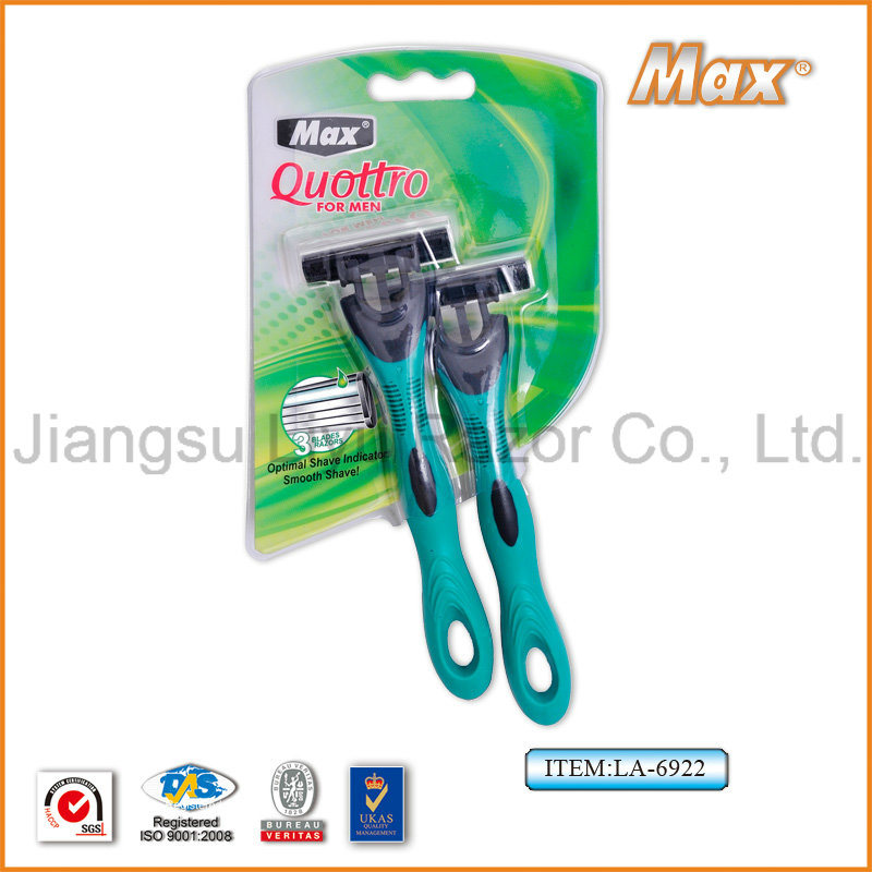 High Quality Compete with Sharp Platinum Coated Stainless Steel Blade Popular in Austrilia Disposable Razor (LA-6922)