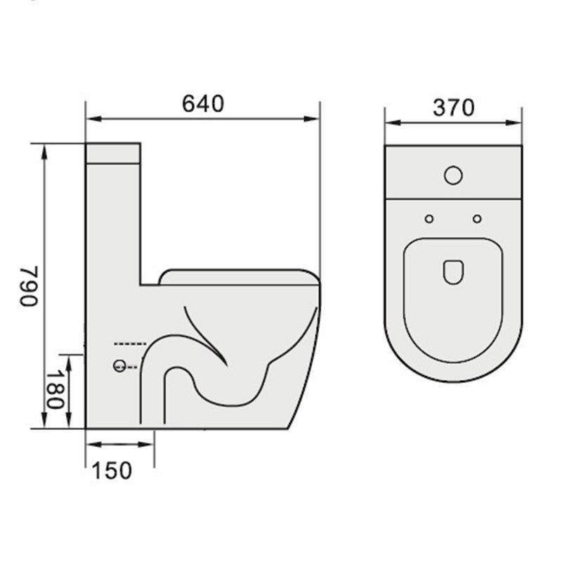 Australian Standard Bathroom Wc One Piece Ceramic Toilet